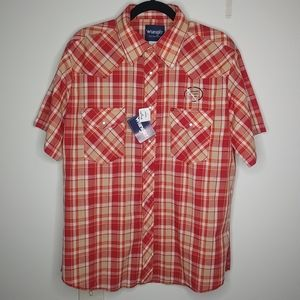 Wrangle Authentic Western Wear Pearl Snap Shirt